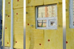 attic insulation, with window and steal bars