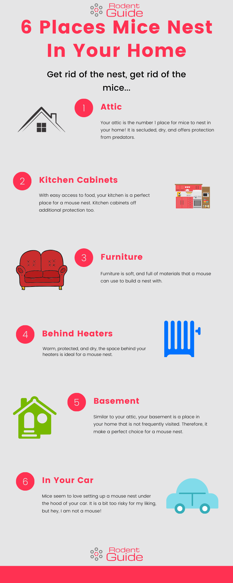 6 places mice nest in your home infogram.