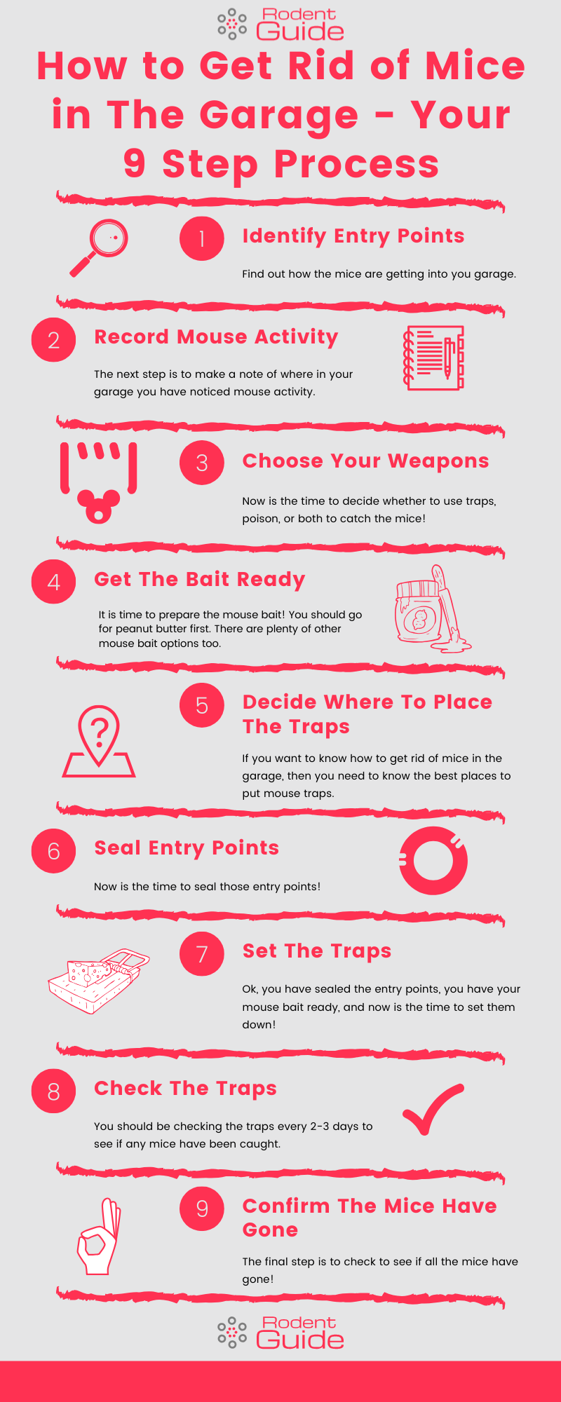How to Get Rid of Mice in The Garage Infographic